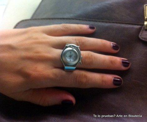Un capricho comprado en una tienda de molduras, un reloj anillo!!